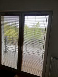 Żaluzje balkonowe w mieszkaniu 1