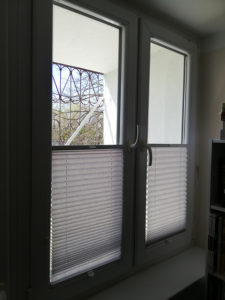 Rolety plisowane w mieszkaniu 1